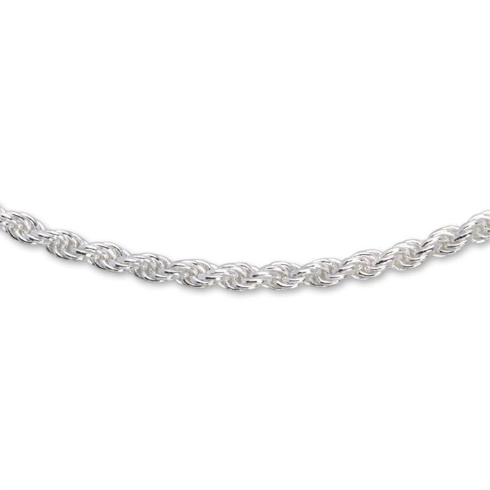 925 Silberkette: Kordelkette Silber 2mm