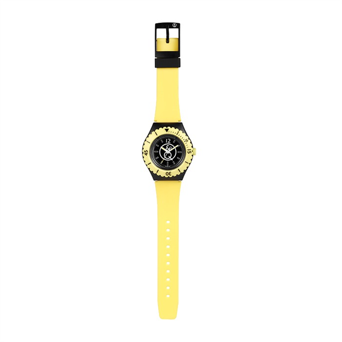 Q & Q Taucheruhr 20 Bar Farbe schwarz gelb