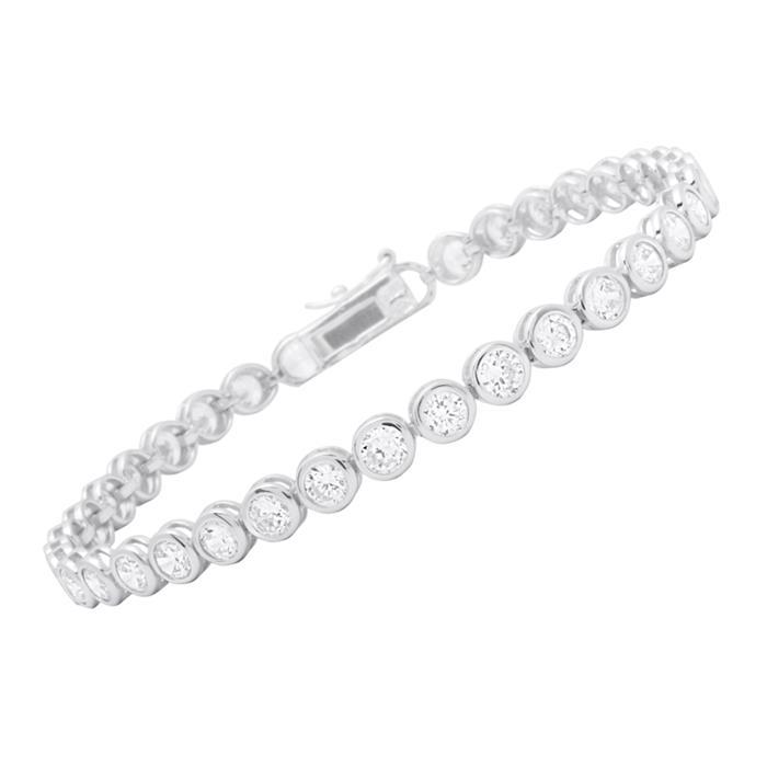 Exklusives Armband Silber Zirkonia Steine 12g