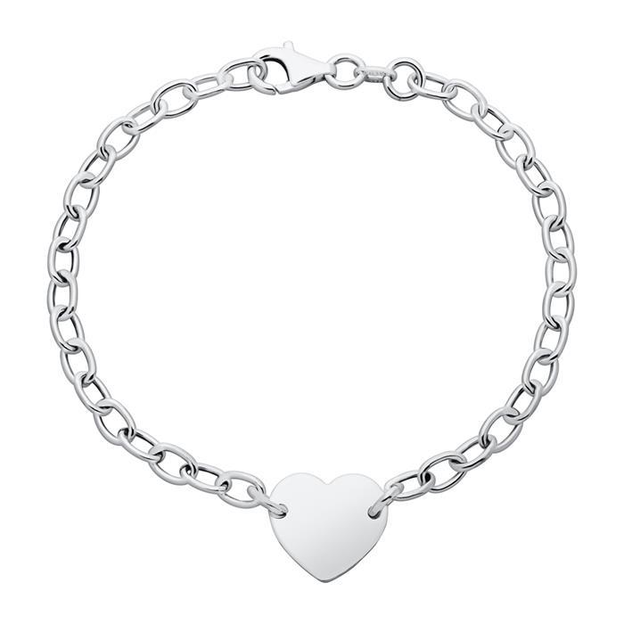 Hochwertiges Armband Silber mit Herzanhänger