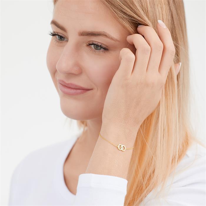 Vergoldetes Silberarmband Unendlichkeitszeichen