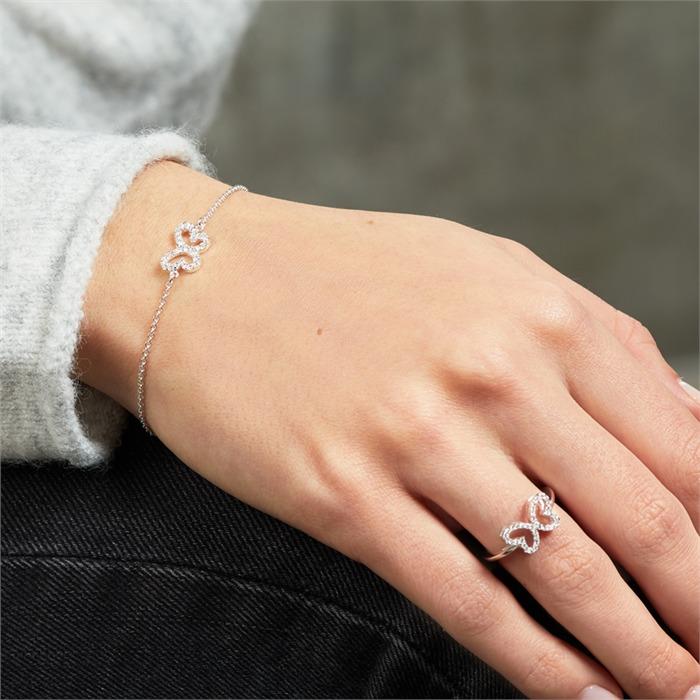 925 Silberarmband Schmetterling Zirkonia