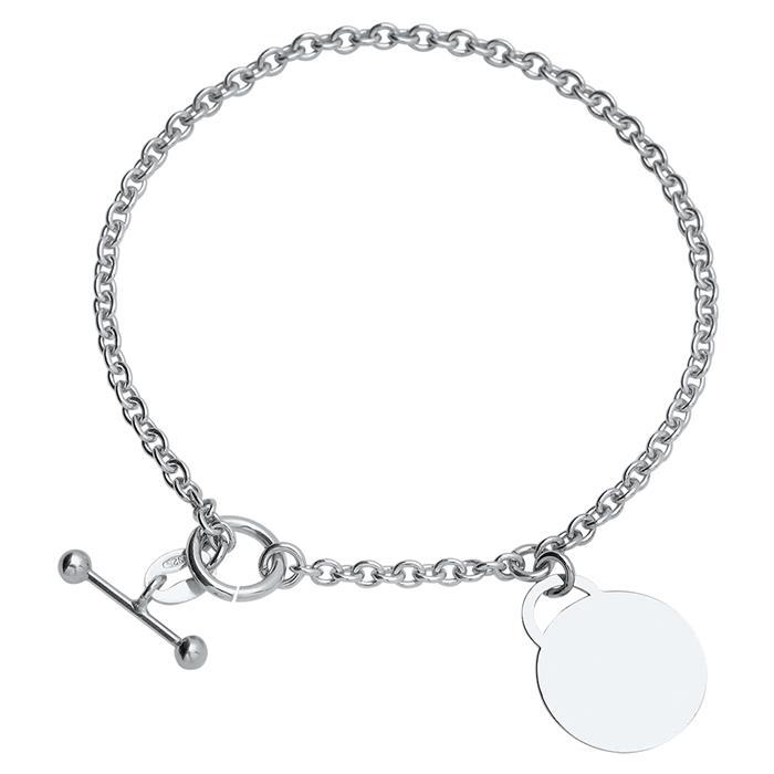 925er Silber Armband poliert 18,5cm