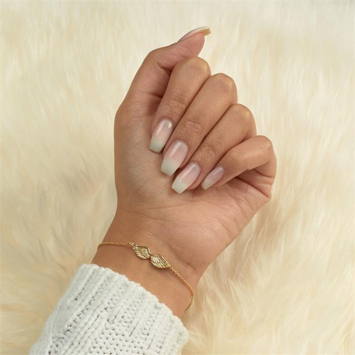 Armband 925er Silber vergoldet Flügelanhänger