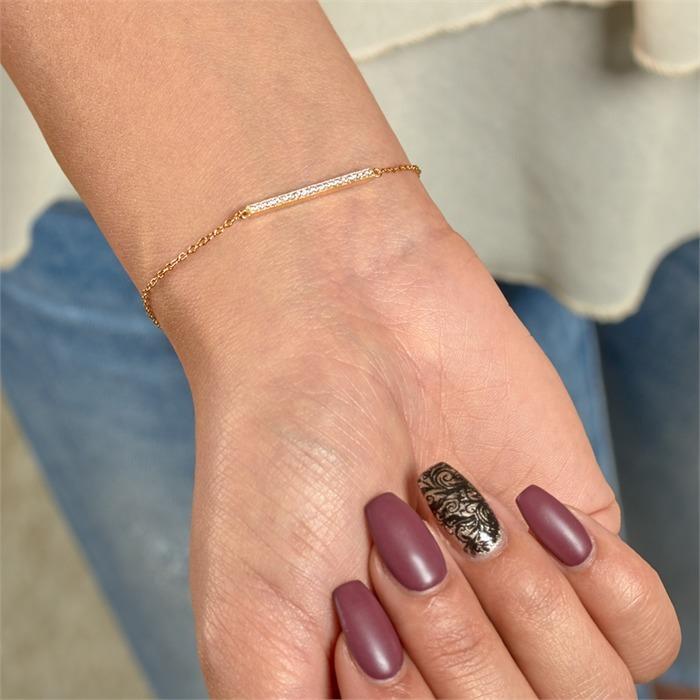 Armband 925er Silber vergoldet