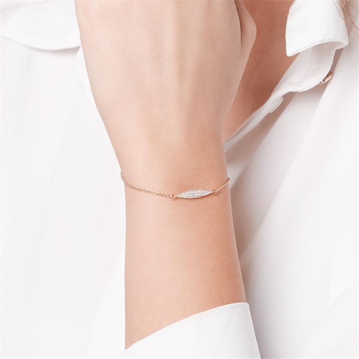 Filigranes Armband 925er Silber Zirkonia gold