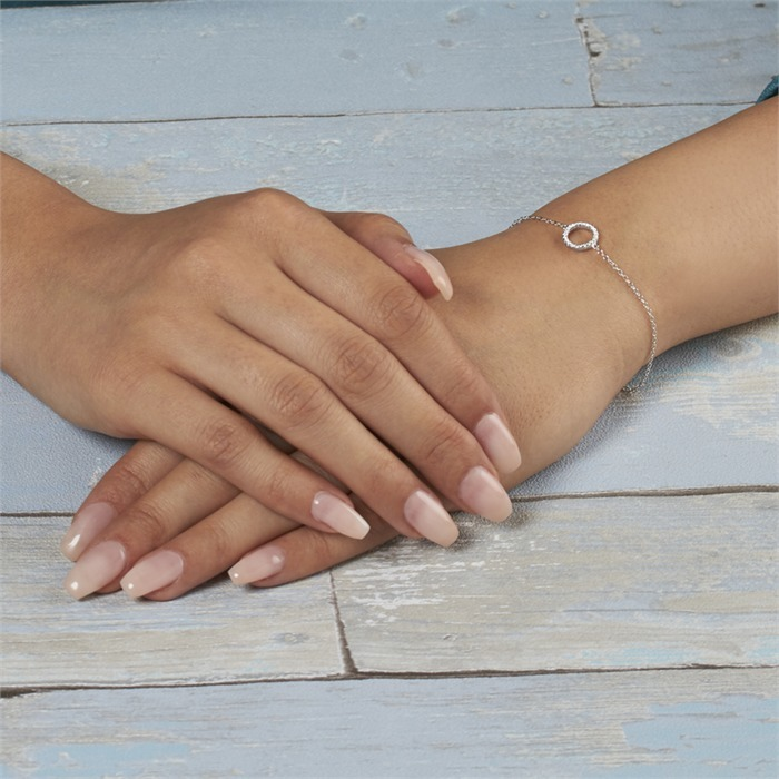 Armband 925er Silber mit Zirkonia