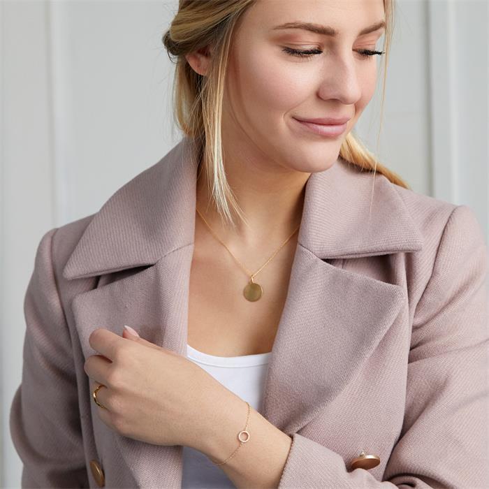 Vergoldetes Damenarmband 925er silber