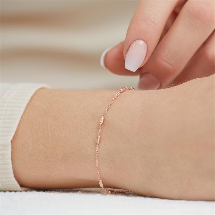 Armband rosévergoldetem Sterlingsilber für Damen