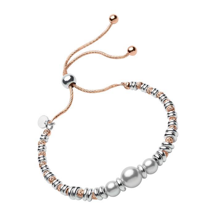 Armband rosévergoldetem Silber mit Perlen