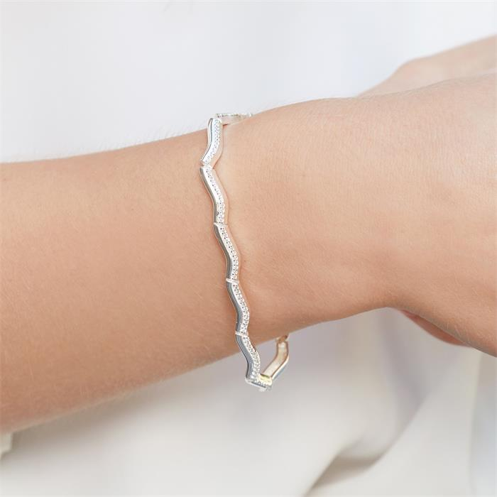 Armband 925er Silber mit weißen Zirkonia