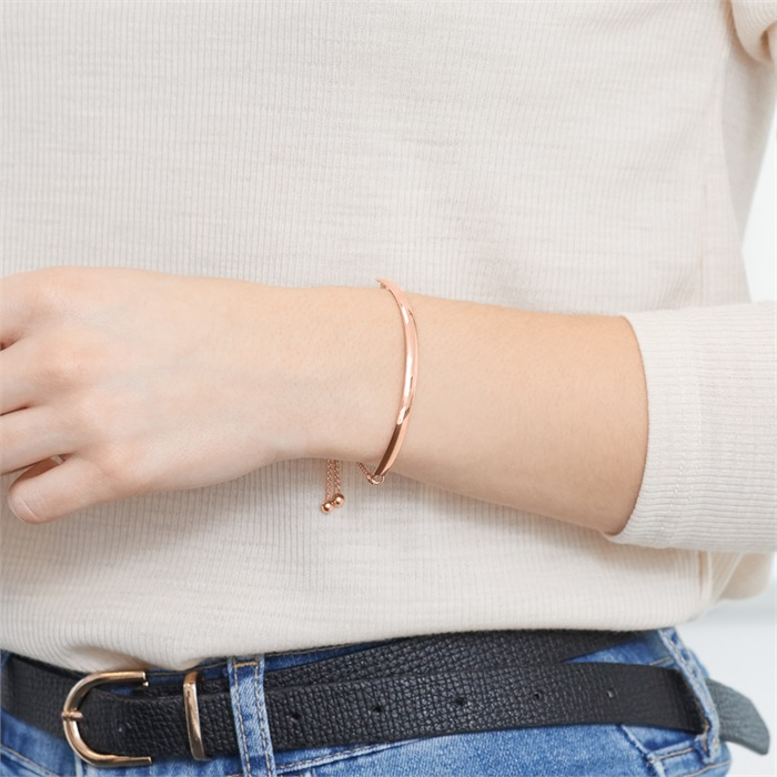 Armband 925er Silber Roségold gravierbar