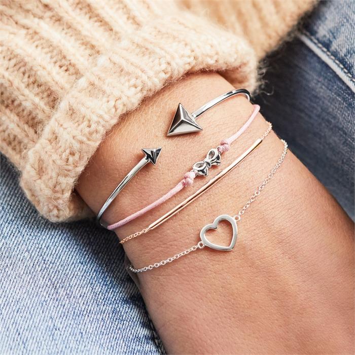 Armband 925er Silber rosévergoldet