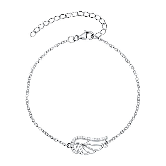 925er Silberarmband mit Flügel Zirkonia