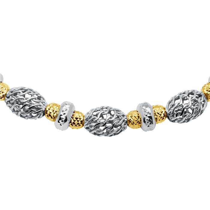 Armband aus Sterlingsilber teilweise vergoldet