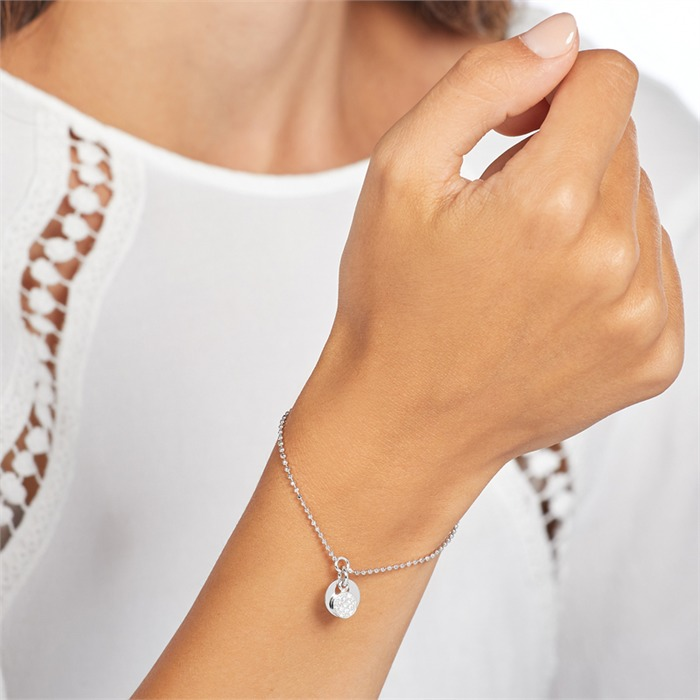Gravierbares Armband aus Sterlingsilber mit Zirkonia