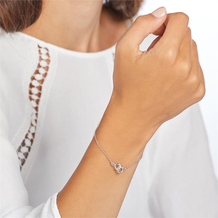 Herzarmband aus Sterlingsilber