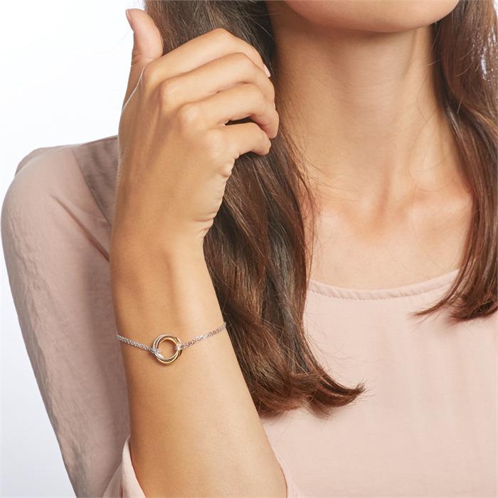 Damenarmband aus Sterlingsilber tricolor