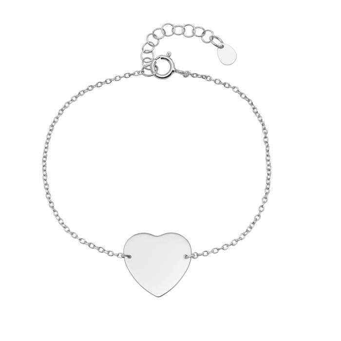 Gravierbares Armband im Herzdesign aus 925er Silber