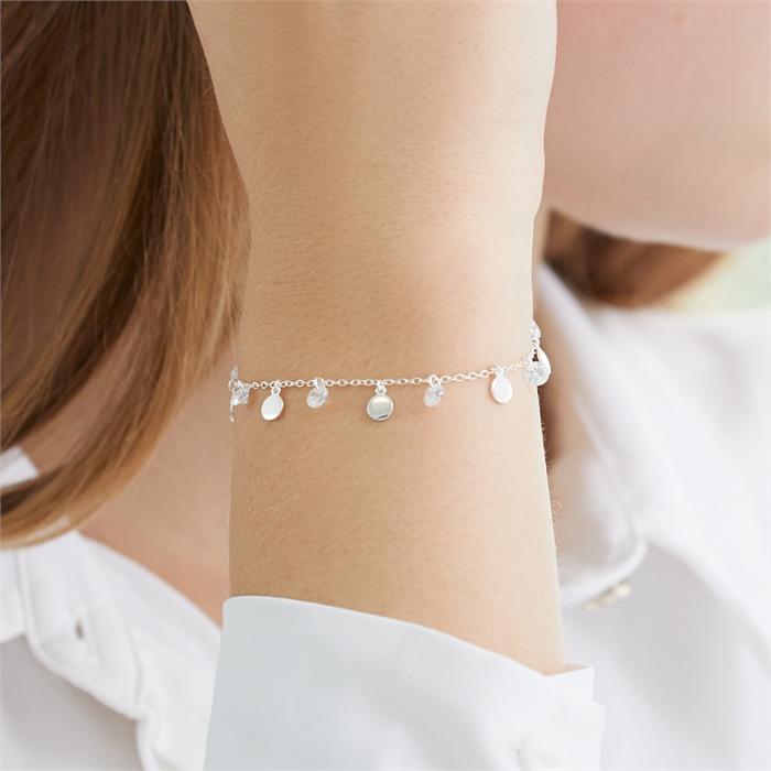 Armband aus Sterlingsilber mit Zirkonia
