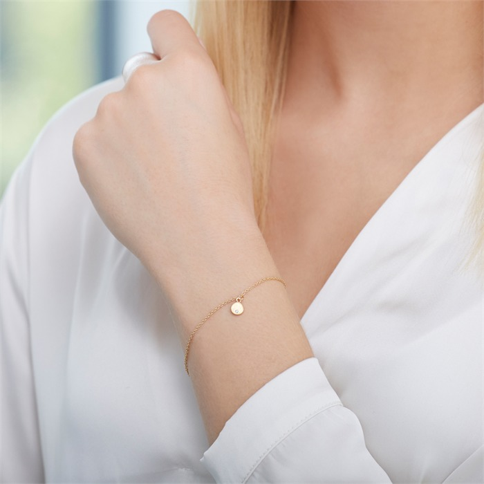 Armband aus vergoldetem 925er Silber mit Zirkonia