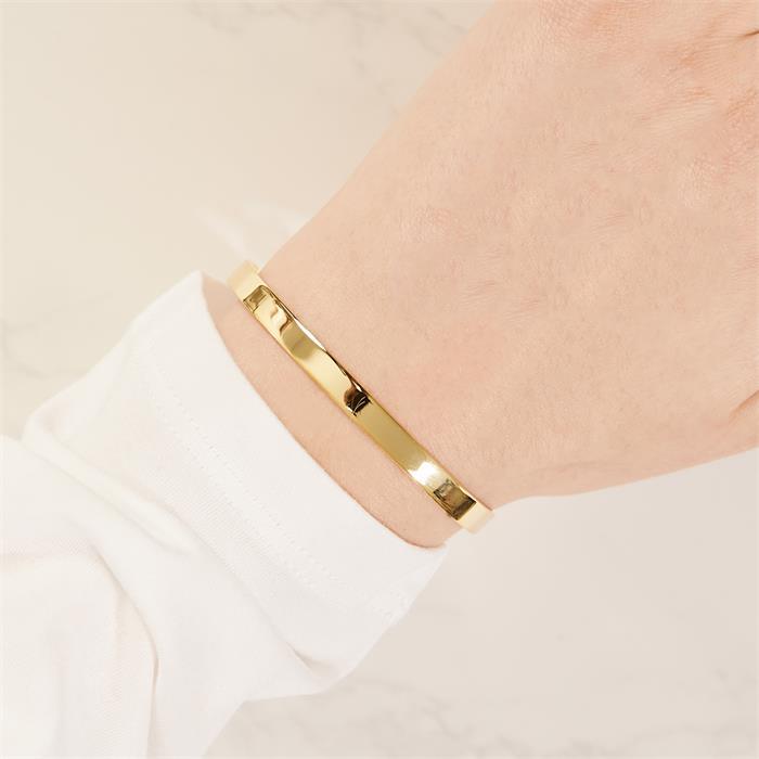 Gravur Armband vergoldetem Sterlingsilber Zirkonia