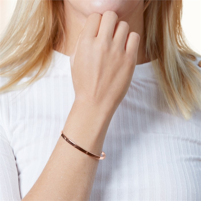 Armband 925er Silber rosévergoldet gravierbar Zirkonia