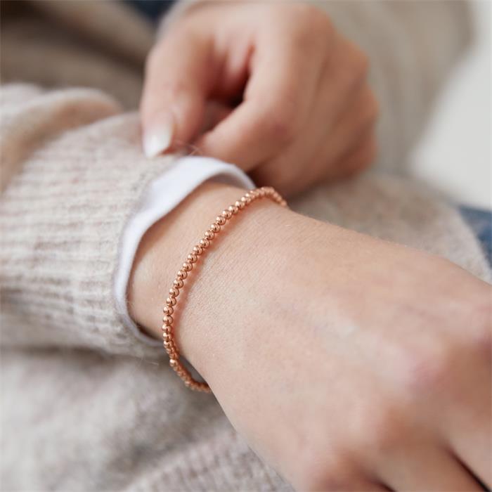 Damenarmband mit Perlen aus 925er Silber rosévergoldet