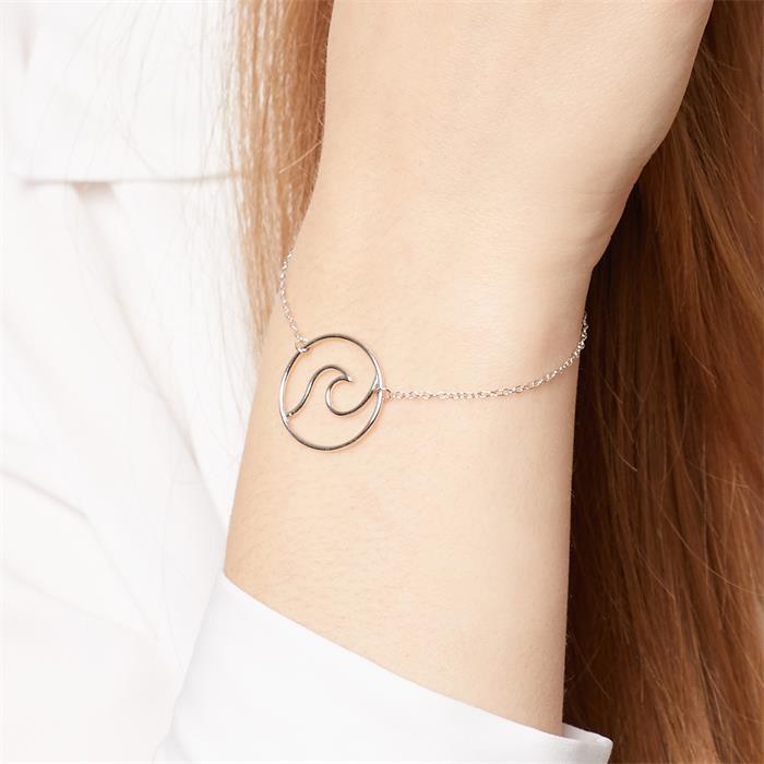 Armband Wave für Damen aus 925er Sterlingsilber