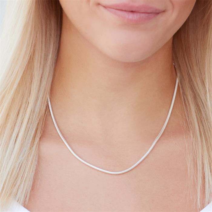 925 Silberkette: Schlangenkette Silber 2,4mm