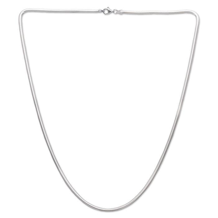 925 Silberkette: Schlangenkette Silber 3,0mm