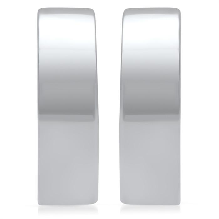 Moderne Creolen 925 Sterling Silber rhodiniert