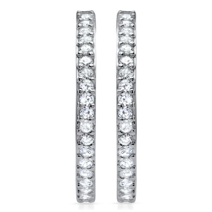 Exklusive Creolen 925 Sterling Silber Zirkonia
