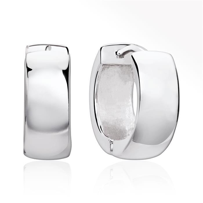 Moderne kleine Creolen 925 Sterling Silber
