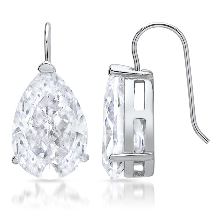 Ohrhänger aus Silber mit Zirkonia besetzt