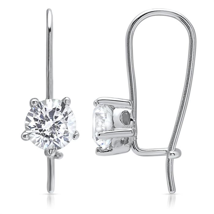 925 Sterling Silber Ohrhänger mit Zirkonia