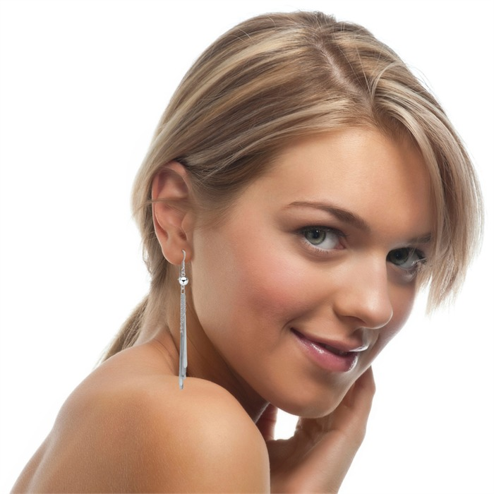 Extravagante Ohrhänger aus Sterlingsilber