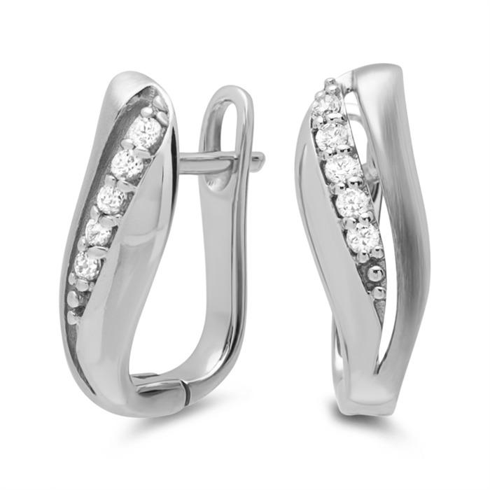 Moderne Ohrringe 925er Silber Zirkonia Se0442