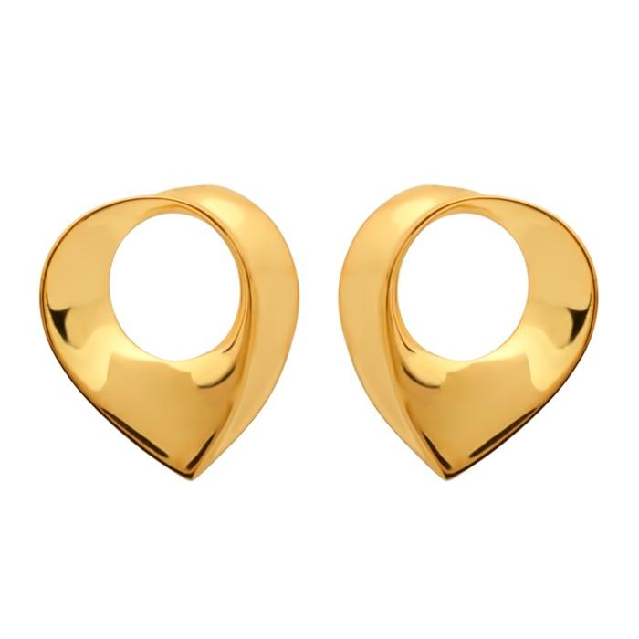 Vergoldete Silberohrstecker Herzform