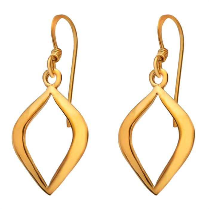 Vergoldete Ohrhänger Silber Blattform