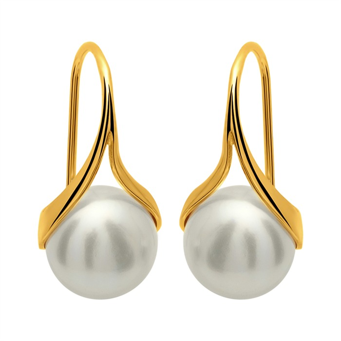 Ohrhänger Silber vergoldet Süßwasserperle