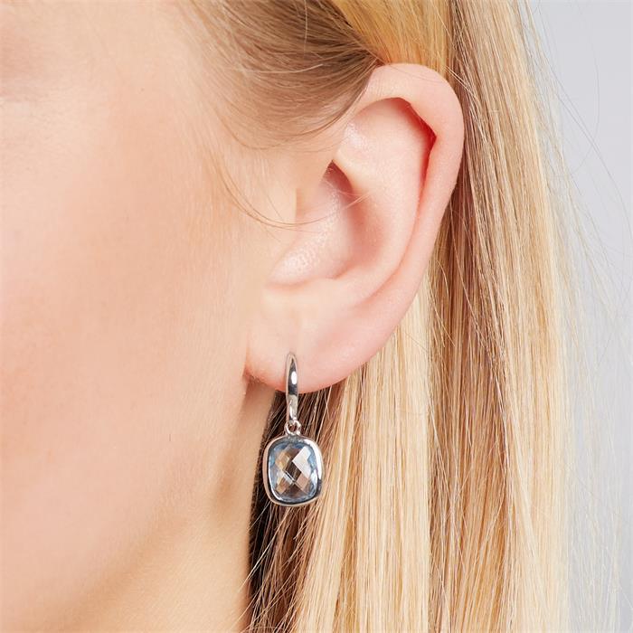 Feine Ohrhänger aus 925 Silber mit Stein