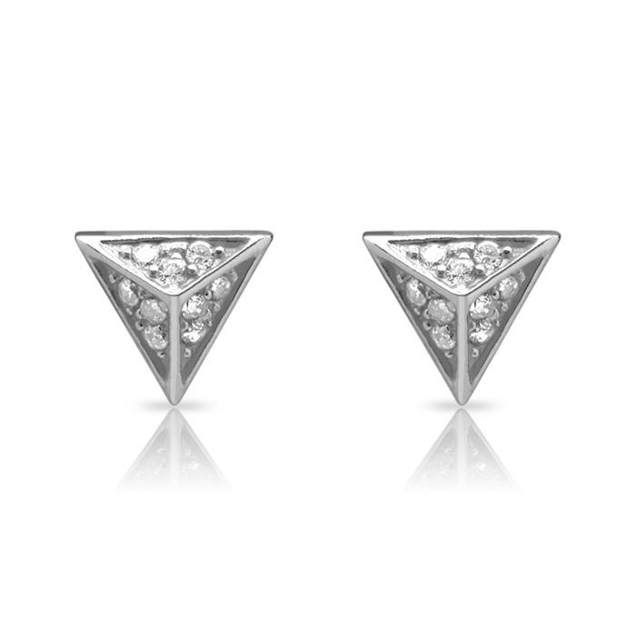 Ohrstecker Pyramide 925er Silber Zirkonia