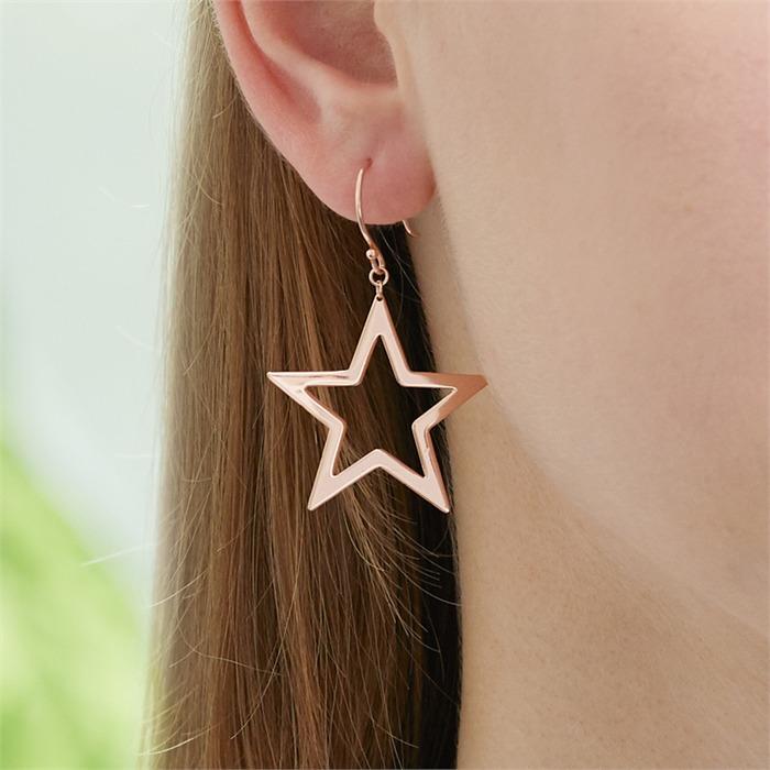 Ohrhänger Sterne aus rosévergoldetem 925er Silber