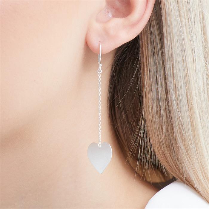 Herz Ohrhänger aus Sterlingsilber