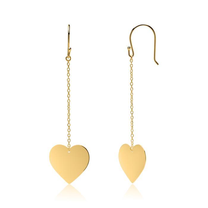 Ohrhänger Herzen aus vergoldetem 925er Silber