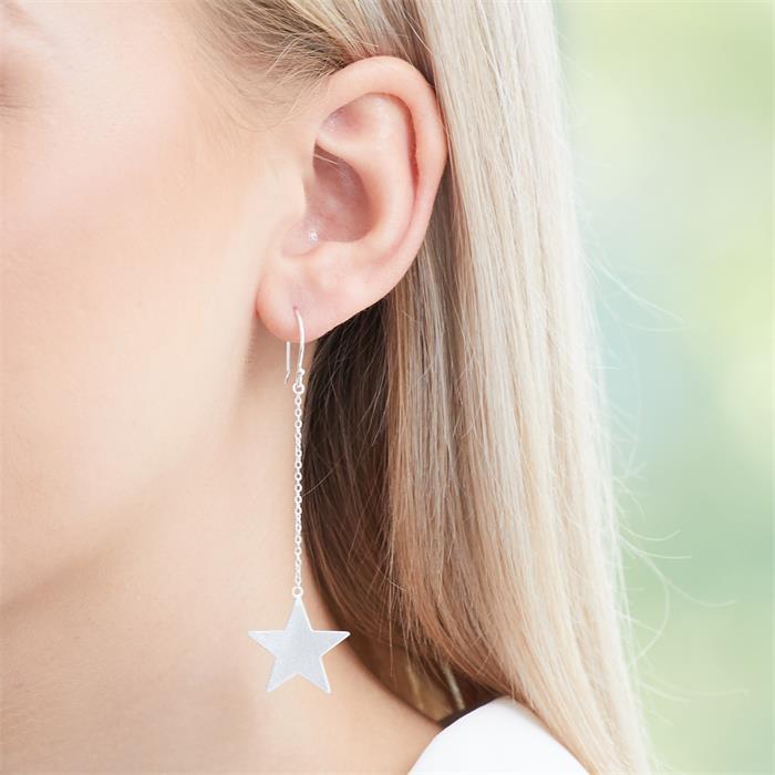 Stern Ohrhänger aus 925er Silber
