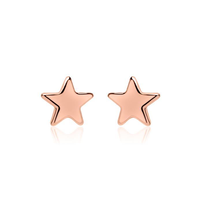 Stern Ohrstecker aus rosévergoldetem 925er Silber
