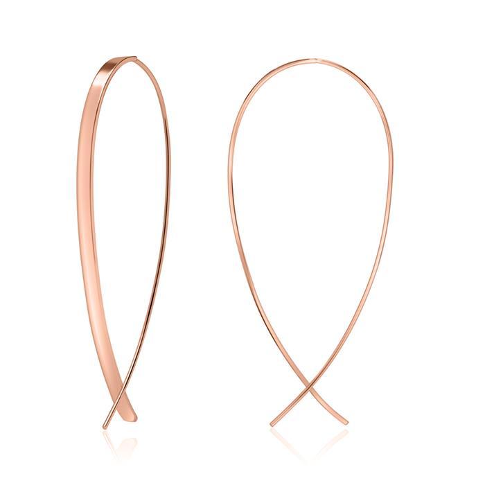 Ohrhänger aus rosévergoldetem 925er Silber