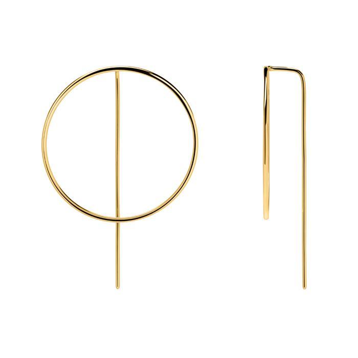 Kreis Ohrhänger aus vergoldetem 925er Silber